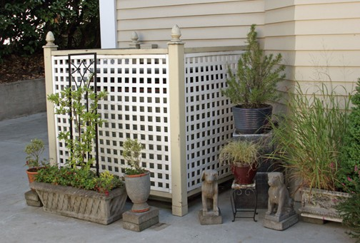 to hide the A/C unit Curb appeal, Outdoor landscaping